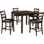 Signature Design by Ashley Covair 5 Pc. Square Counter Height Dining Set