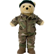 Bear Forces of America 11 in. Plush Bear in the Army Special Forces MCAM Uniform