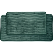 Lavish Home 2 Pc. Memory Foam Bath Mat Set
