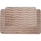 Lavish Home Memory Foam Bath Mat Set