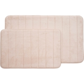 Lavish Home 2 Pc. Memory Foam Striped Bath Mat Set
