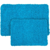 Lavish Home 2 Pc. Memory Foam Shag Bath Mat