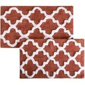 Lavish Home 2 Pc. Trellis Bath Mat Set
