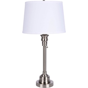 Simply Perfect Bolton Brushed Nickel Table Lamp