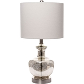 Simply Perfect Silver Mercury Glass Accent Lamp