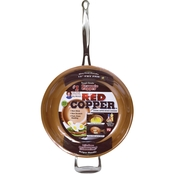 TeleBrands Red Copper 12 in. Fry Pan