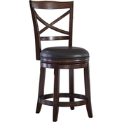 Ashley Porter Swivel Counter Stool with Back 2 pk.