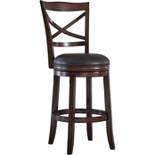 Ashley Porter Swivel Barstool with Back 2 pk.