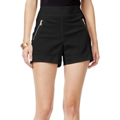 Thalia Sodi Zipper Detail Shorts