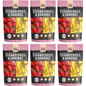 Wise Emergency Food Simple Kitchen Freeze Dried Strawberries and Bananas 6 Pk.