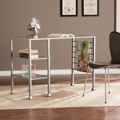 Southern Enterprises Metal Glass Writing Desk