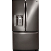 LG 24 Cu. Ft. French Door Black Stainless Steel Refrigerator with Dual Ice Makers