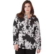 Calvin Klein Plus Size Printed Roll Sleeve Tunic