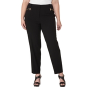 Calvin Klein Plus Size Skinny Pants with Zip Pockets