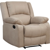 Lifestyle Solutions Parker Reclining Microfiber Chair