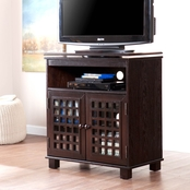 Southern Enterprises Narita Swivel Top Media Stand, Classic Espresso