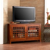 Southern Enterprises Narita Corner Media Stand, Walnut