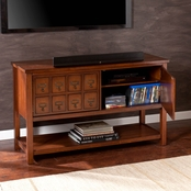 Southern Enterprises Apothecary Console/TV Stand, Brown Mahogany