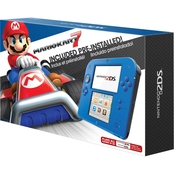 Nintendo 2DS System Electric Blue with Mario Kart