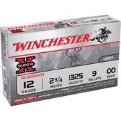 Winchester Super-X 12 Ga. 2.75 in. 00 Buckshot 9 Pellets, 5 Rounds