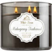 Bath & Body Works White Barn Mahogany Teakwood 3 Wick Candle