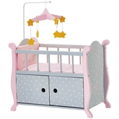Olivia's Little World Baby Doll Furniture Nursery Crib Bed with Storage
