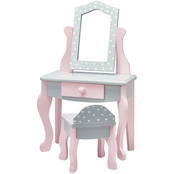 Olivia's Little World 18 In. Doll Furniture Vanity Table and Chair Set