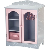 Olivia's Little World 18 In. Doll Furniture Fancy Wooden Closet