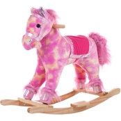 Happy Trails Pink Plush Rocking Pony