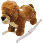 Happy Trails Lion Plush Rocking Animal