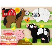 Melissa & Doug Farm Animals Chunky Jigsaw Puzzle