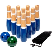 Hey! Play! 8 in. Wooden Lawn Bowling Set