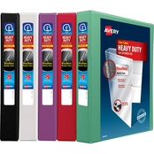 Avery Heavy Duty View Binder, 1 in. (220 Sheet Capacity), Assorted