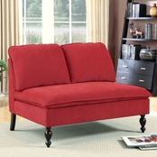 Furniture of America Kenzie Armless Loveseat