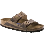 Birkenstock Women's Arizona Soft Footbed Oiled Leather Two Strap Sandal