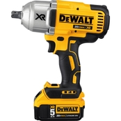 DeWalt 20V MAX* XR 1/2 in. Impact Wrench Kit with Detent Anvil (5.0Ah)