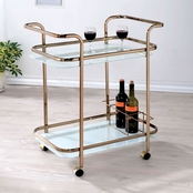 Furniture of America Chrome Utility Cart