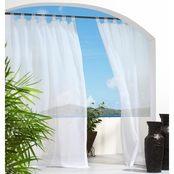 Commonwealth Home Fashions Escape Outdoor/Indoor Tab Top Curtain Panel