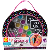 ALEX Spa Deluxe Sparkle Tattoo Parlor Craft Kit with Travel Case
