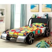 Furniture of America GT Racer Twin Metal Car Bed