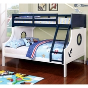 Furniture of America Nautia Twin Over Full Bunk Bed