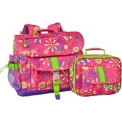 Bixbee Butterfly Garden Backpack and Lunch Kit Set