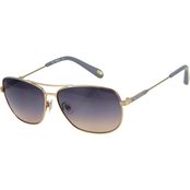 Fossil Stainless Steel Navigator Gradient Sunglasses 3058S