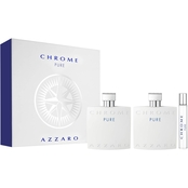 Azzaro Chrome Pure 3 pc. Gift Set
