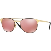 Ray-Ban Mirrored Lens Aviator Metal Sunglasses