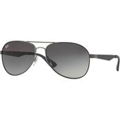 0c0cf76b03747 Ray-Ban Aviator Metal Sunglasses · Matte Black Green