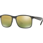 Ray-Ban Mirrored Lens Wayfarer Plastic Sunglasses