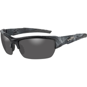 Wiley X WX Valor Triloid Nylon Rectangle Kryptek Typhon Sunglasses CHVAL