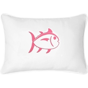 Southern Tide Skipjack Embroidered Pillow