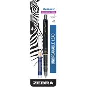 Zebra Delguard Mechanical Pencil 0.5mm Black 1 pk. with Bonus Lead